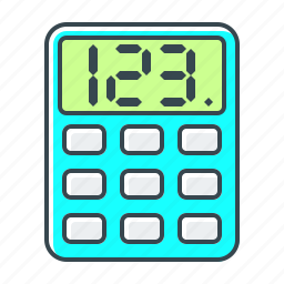 calculate, calculation, calculator, math, mathematics, technology icon