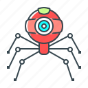 bot, robot, seo, web, web camera, web crawler, webcam icon