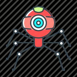 bot, robot, seo, web, web camera, web crawler, webcam icon