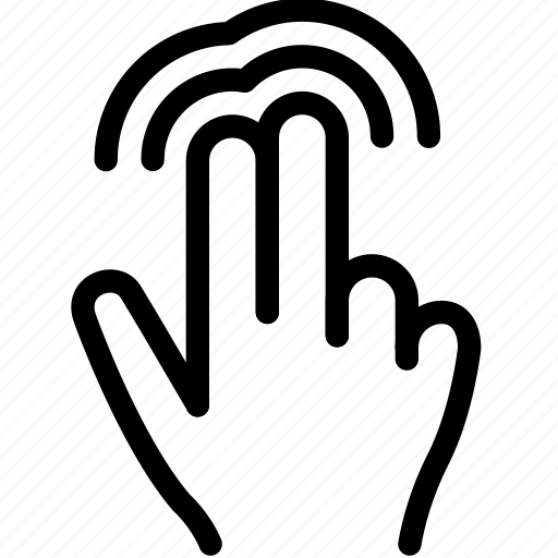 click, finger, gesture, hand, touch icon