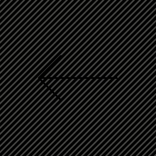 arrow, arrow left, back, direction, left, move, previous icon