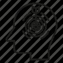 arrow, dart, focus, head, idea, mind, think icon