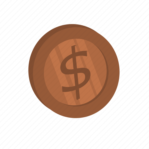 brass, currency, dollar, money icon