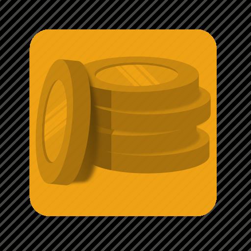 banking, coins, dollar, euro, golden, money icon