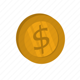 currency, dollar, golden, money icon
