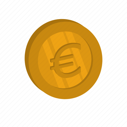 currency, euro, golden, money icon