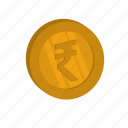 currency, golden, money, rupee icon