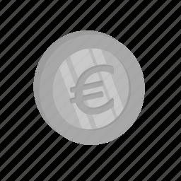 cash, currency, eoru, money, silver icon