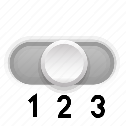 background, gray, phase, second, switch, three icon