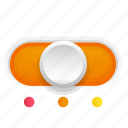 orange, phase, second, switch, three icon