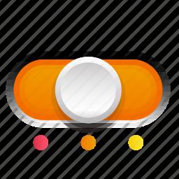 orange, phase, second, switch, three icon