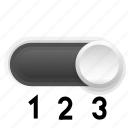 background, graphite, phase, switch, third, three icon