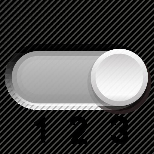 background, gray, phase, switch, third, three icon
