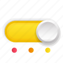 phase, switch, third, three, yellow icon