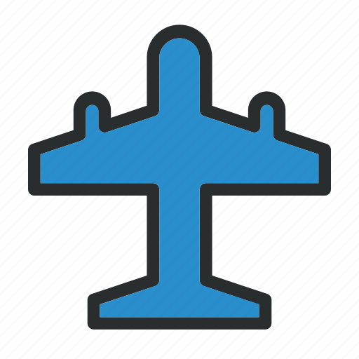 Airplane, airport, flight, plane, transportation icon - Download on Iconfinder