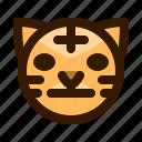 animal, animals, avatar, emoji, face, neutral, tiger