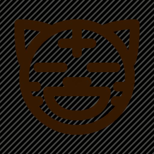 animal, animals, contented, emoji, face, tiger icon