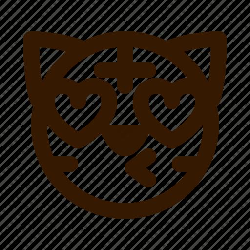 animal, animals, avatar, emoji, face, kiss, tiger icon