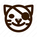 animal, animals, avatar, emoji, face, pirate, tiger icon