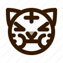 animal, animals, avatar, emoji, face, sick, tiger icon