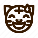animal, animals, avatar, emoji, face, sorry, tiger icon