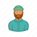 cartoon, forest, lumber, lumberjack, man, timber, wood icon