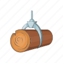 cartoon, crane, forest, hydraulic, lumber, timber, wood icon