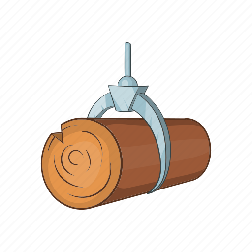 Cartoon, crane, forest, hydraulic, lumber, timber, wood icon - Download on Iconfinder