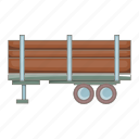 cartoon, forest, logging, lumber, timber, truck, wood icon