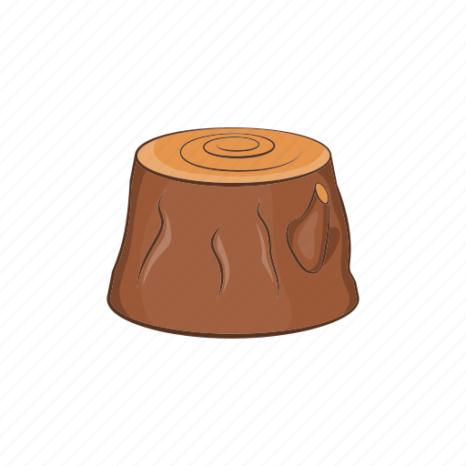 Cartoon, forest, lumber, stump, timber, tree, wood icon - Download on Iconfinder