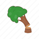 cartoon, felled, forest, lumber, timber, tree, wood icon