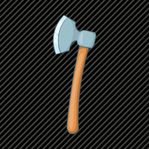 ax, axe, blade, cartoon, lumber, timber, wood icon