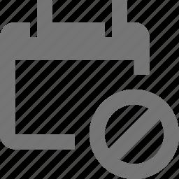 block, calendar, date, stop icon