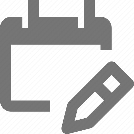 appointment, calendar, date, edit, pencil, plan, reminder, schedule icon
