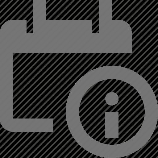 calendar, date, information icon