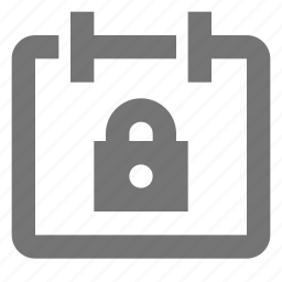 calendar, date, lock, security icon