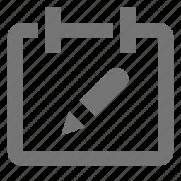 appointment, calendar, date, edit, pencil, plan, reminder, schedule icon