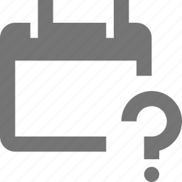 calendar, date, help, question icon