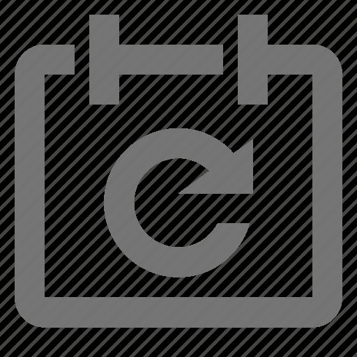 calendar, date, refresh, reload, sync icon