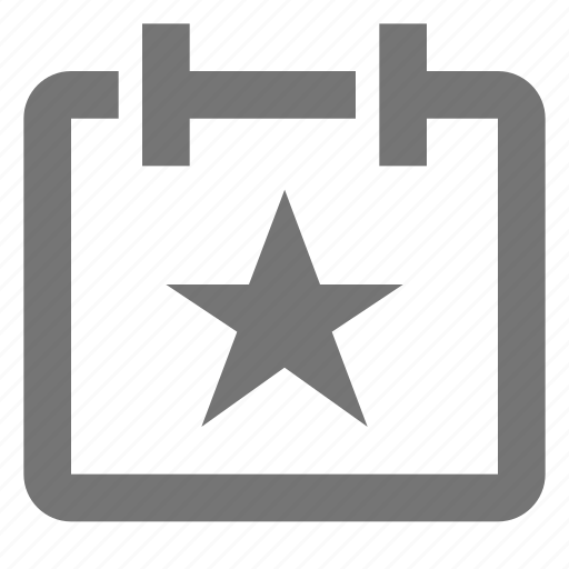 appointment, calendar, date, plan, reminder, schedule, star, time icon