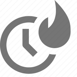 attention, clock, fire, flame, notification, ring, sound, time icon