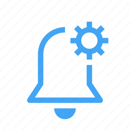 alarm, alert, bell, configuration, gear, preferences, settings icon