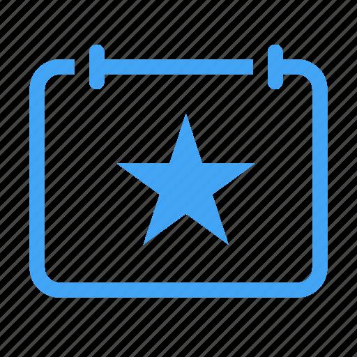 bookmark, calender, date, day, event, faovrite icon