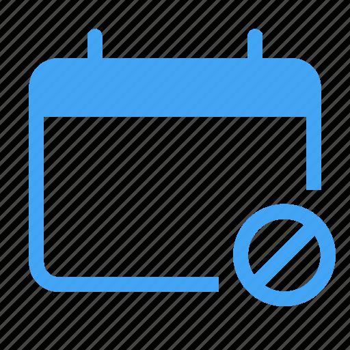 block, blocked, calander, date, event, lock, stop icon