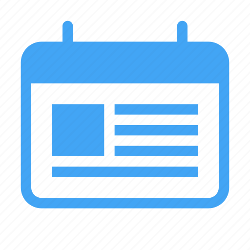agenda, appointment, calander, content, date, event, schedule icon