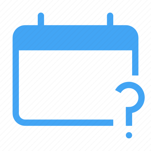 calander, date, day, event, question, schedule icon