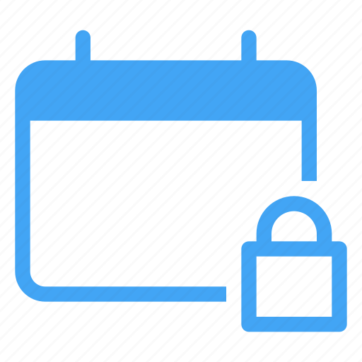 calander, lock, password, protection, safety, secure, security icon
