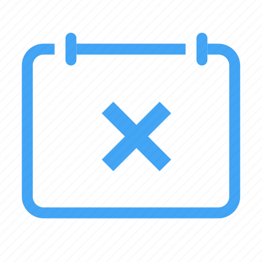 calender, cancel, close, date, event, remove icon