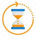 alarm, business, clock, hour, hourglass, time icon