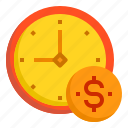 alarm, business, clock, hour, money, time icon